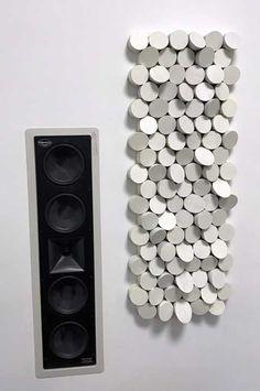 Pannello acustico elementi circolari Acoustic Diffuser, Acoustic Panels, Decoration, House Design, Interior Design, Speakers, Audio, Musica, Ceiling Trim