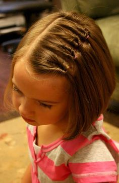 Cute hairstyles for little girls with short hair