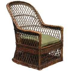 Shop armchairs and other antique and modern chairs and seating from the world's best furniture dealers. Craftsman Style Furniture, Wicker Armchair, Cane Chairs, Gustav Stickley, Back Patio, Naive, Traditional House, Modern Chairs, Cool Furniture
