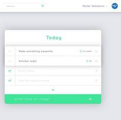 Todo web app in pregress... Any suggestions for name? #webdesign #dribbbleinvite #webdesigner #uidesign #ui #ux #green #workinprogress #dribbble #webapp #todo #todolist by instagram.com/marko.vel