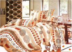 Комплект спално бельо от сатениран памук в нежни цветове и ефектни елементи. Комплекта е от 6 части с еднакъв десен. Приятната и нежна на допир материя на сатенирания памук ще ви обгръща и докосва нежно. Свежест и уют за вас и вашата спалня.