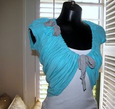 t-shirt to shrug transformation!  another project on my list to sew!!