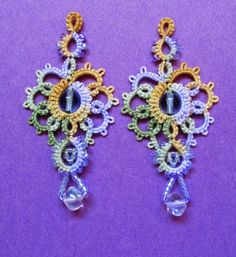 "Marilee's ""Grand Aura"" earrings from her other book, Up and Tat 'Em"