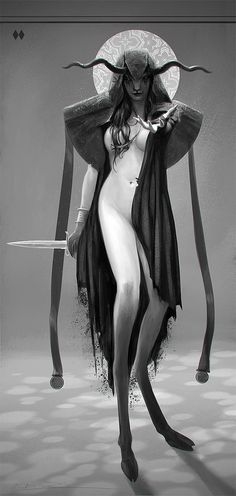Dark Faun Mage Concept by Oliver Wetter on Visualart