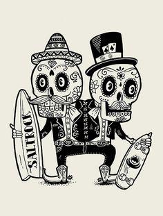 Apparel by Alejandro Giraldo, via Behance Mexican Skulls, Mexican Art, Illustrations, Illustration Art, Dessin Old School, Sugar Skull Art, Sugar Skulls, Candy Skulls, Skull Coloring Pages
