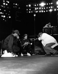 "Rappers MC Ren, Ice Cube and Eazy-E. from N.W.A. performs during the ""Straight…"