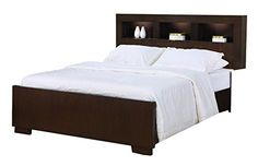 California King Size Bed with Shelf Headboard in Cappuccino Finish Coaster Home Furnishings http://www.amazon.com/dp/B003E84PFQ/ref=cm_sw_r_pi_dp_pnq8tb1RE65EY