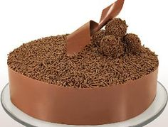 this is Brigadeiro Cake. ( kind of Brazilian fudge).. something very sweet and delicious from Brazil to you - this website have recipes in English for you ! Enjoy!