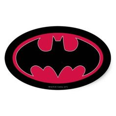 (Batman Symbol | Red Black Logo Oval Sticker) #BackToSchool #BatMan #Batman…