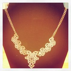 Thick Gold Necklace $16