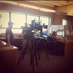 Portlandia filming in the Willamette Week office today http://instagr.am/p/QDmJEjR2sS/     Photo by willametteweek