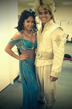 Adam Jacobs and Courtney Reed as Aladdin and Princess Jasmine in ALADDIN on Broadway! Aladdin Musical, Aladdin Broadway, Musical Theatre Broadway, Broadway Plays, Courtney Reed, Adam Jacobs, Princess Jasmine Costume, Aladdin Costume, Broadway Costumes