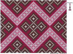 To rekonstruerte halskvarder. – Vevstua Bull-Sveen Crochet Chart, Knit Crochet, Knitting Charts, Delena, Brick Stitch, Loom, Celtic, Cross Stitch, Tapestry