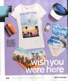 The latest Topshop looks featured online and in print are in Nylon USA july 12 Topshop Looks, Beach Print, Vacation Style, Trending Topics, Wardrobes, Summer Beach, What To Wear, Ready To Wear, Shop Now