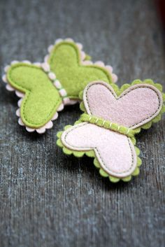 Butterflies :: Hair Clips by made by agah, via Flickr