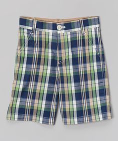 Look at this Clover Plaid Shorts - Toddler & Boys on #zulily today!
