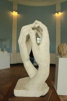 """La Cathédrale - Rodin, 1908.--More commonly known as """"This is the Church, This is the Steeple"""""""
