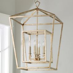 A perfect mix of contemporary design with modern shapes, this lantern's geometric flair in a distressed Silver or Gold finish is an attractive choice above a kitchen island, foyer or living room. Foyer Lighting, Antique Lighting, Kitchen Lighting, Lighting Ideas, Stairway Lighting, House Lighting, Lighting Design, Farmhouse Style Kitchen, Modern Farmhouse Kitchens