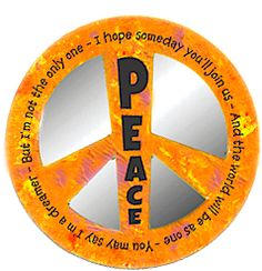 Peace Sign Locker Mirror.. Decorate and embellish with colored pencils, rhinestones, glitter, and more!