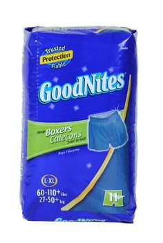 awesome Goodnites sleep boxers lg/xl boys, 60-110lbs 12 baggage of 11 per case 132 whole