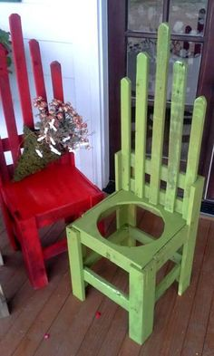 Billie's 'potholder' chairs