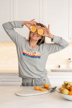 DM Merchandising's Hello Mello: Smile Lounge Sweater - A lightweight knit sweater with a relaxed crew neck fit. Knit Joggers - Designed for comfort with a wide waistband, tapered fit and roomy pockets. Great Gifts For Mom, Joggers, Crew Neck, Lounge, Smile, Pockets, Sweater, Fit, Design