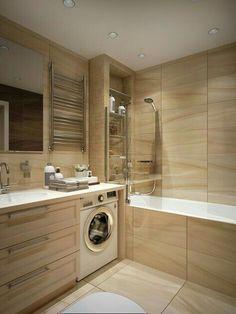 Gorgeous Small Wood Bathroom Design Ideas That Women Will Love It Bathroom Toilets, Wood Bathroom, Laundry In Bathroom, Bathroom Layout, Bathroom Interior, Modern Bathroom, Small Bathroom, Bathroom Ideas, Master Bathroom