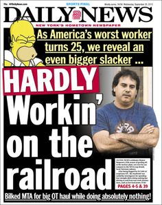 The Daily News compares a MTA employee to Homer Simpson