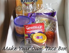 Make Your Own Taco Box- great idea to take to others who need a meal