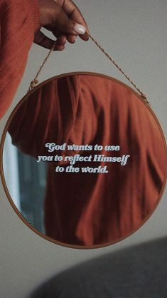 God wants to use you to reflect himself to the world Bible Verses Quotes, Jesus Quotes, Faith Quotes, Deep Quotes, Wisdom Quotes, Quotes Quotes, Christian Life, Christian Quotes, Bibel Journal