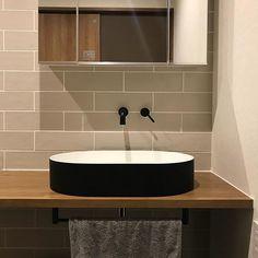 シンエッジ #洗面ボウル #洗面ボール Laundry In Bathroom, Washroom, Powder Room, Interior And Exterior, Toilet, Sink, New Homes, House, Japanese Culture