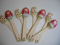 wooden spoon matryoshka-other matryoshka crafts listed below