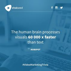 The human brain processes visuals 60 faster than text - Hubspot Inbound Marketing, Content Marketing, Affiliate Marketing, Internet Marketing, Online Marketing, Social Media Marketing, Digital Marketing, Business Quotes, Business Tips