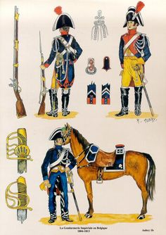 les uniformes des Régiments prestigieux de l' Empire