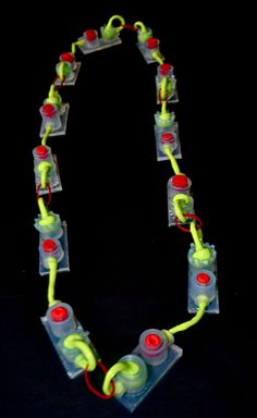 Silicone necklace by Maria Torres, UCA Rochester Contemporary Jewellery