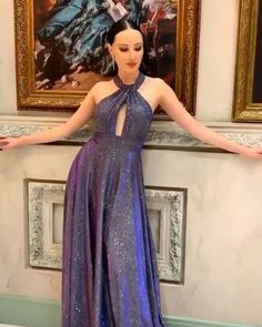 Gorgeous A Line Halter Royal Blue Long Prom/Evening Dress Cute Formal Dresses, Prom Girl Dresses, Pretty Prom Dresses, Affordable Prom Dresses, Wedding Dresses For Girls, Gala Dresses, Dress Prom, Homecoming Dresses, Blue Weddings