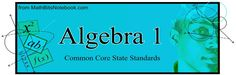MathBitsNotebook - Algebra 1 is a series of lesson and practice pages for students studying high school Algebra 1. These materials cover ALL standards stated in the Common Core State Standards for Mathematics (Appendix A, traditional pathway for Algebra 1), and coordinate with both SBAC and PARCC assessments. Differences reflected in the PARCC MCF are included and highlighted.