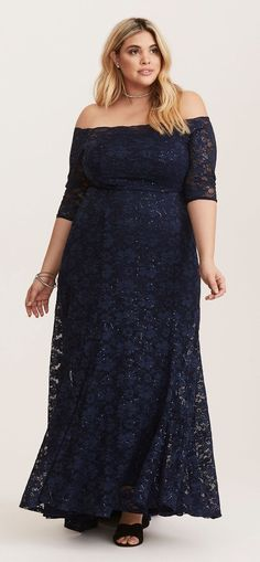 Plus Size Party Dress - Plus Size Cocktail Dress - Plus Size Long Gown