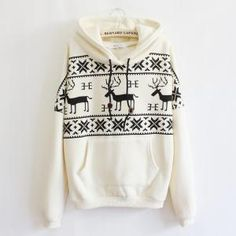 Fawn Hooded Fleece Sweater. I NEED this in my life.