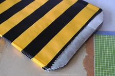 """These are cute bumble bee yellow and black stripe pattern treat / favor bags. They measure 5"""" x 7 """" and they are flat ( no gusset ).Pack of 24 $6.00"""