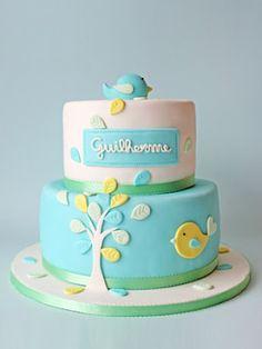 Baby boy birthday cake