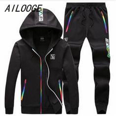 e71667f1fa5d Click to Buy    AILOOGE Men s Sporting 2017 Plus Size 5XL Hoody Sweatshirt.
