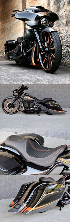 Awesome custom bike Harley-Davidson Street Glide bagger custom by The Bike Exchange Davidson Bike, Harley Davidson Motorcycles, Custom Motorcycles, Custom Bikes, Motorcycle Outfit, Motorcycle Bike, Chopper, Harley Rocker, Biker Wear