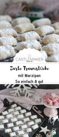 Probably the simplest biscuit recipe - dream pieces with marzipan, marzipan biscuits, marzi . - Weihnachtsbäckerei, Plätzchen, Rezepte & mehr by Castlemaker - TN Recipes web Cookies And Cream Cake, Cake Mix Cookies, Cookies Et Biscuits, Chip Cookies, Pillow Cookies Recipe, Chip Cookie Recipe, Chocolate Cookie Recipes, Easy Cookie Recipes, Snack Recipes