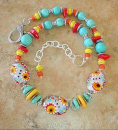 Boho Necklace Turquoise Jewelry Bohemian Jewelry by BohoStyleMe