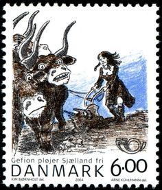 Gefion, Denmark -stamp