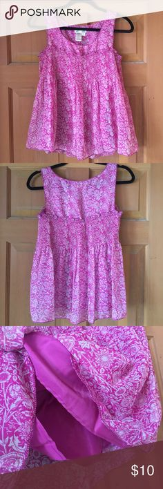 """NWOT high-quality floral chiffon top! The Max studio brand is VERY high-end as it is.. But this top is actually part of their """"specialty products"""" line! It's a pretty flowy magenta top with lining inside Max Studio Tops Blouses"""