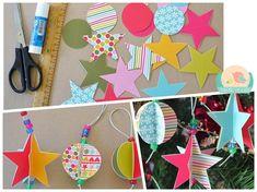 Decoração natal   Mamãe Plugada Colorful Christmas Tree, Xmas, Crafts, Clever, Do It Yourself Projects, Christmas Decor, Kids Part, Colors, Manualidades