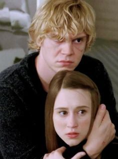 "Evan Peters as Kyle and Taissa Farmiga as Zoe in Season 3 ""Coven"""