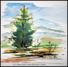 watercolor-black-forest-tree-kleckser.jpg 816×811 pixels